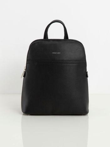 Czarny dwukomorowy plecak damski