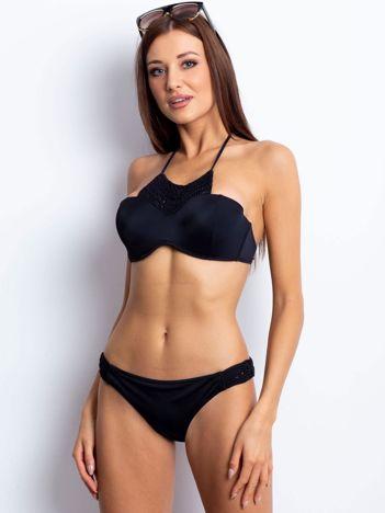 Czarny kostium kąpielowy Inscribed