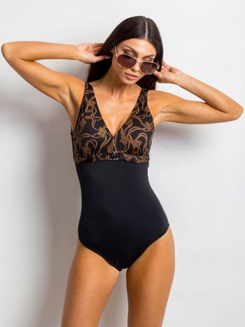 Czarny kostium kąpielowy Overarching