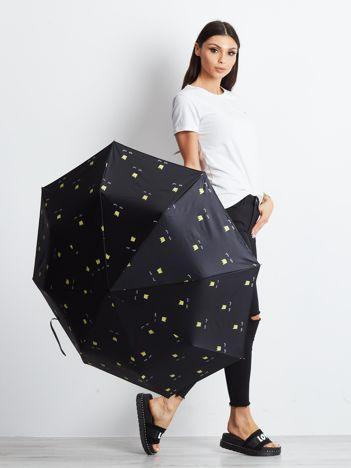 Czarny mały parasol