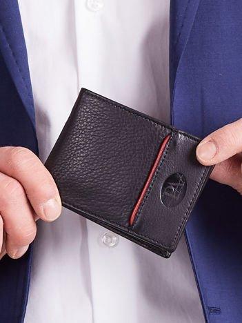 Czarny męski portfel z naturalnej skóry