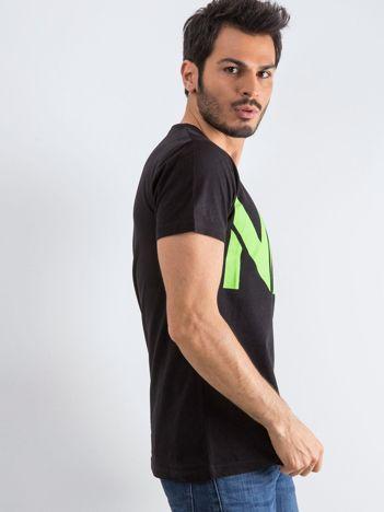 Czarny męski t-shirt Public