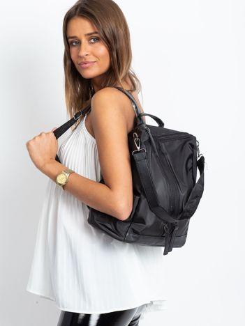 Czarny miękki plecak torba