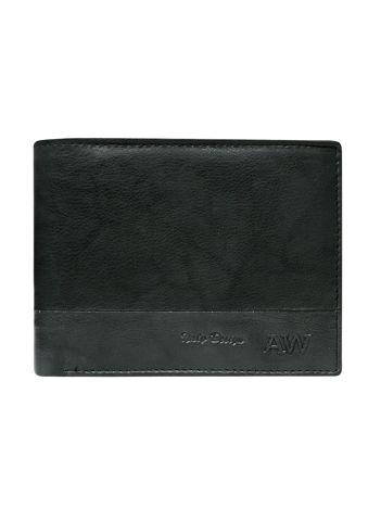Czarny portfel bez zapięcia