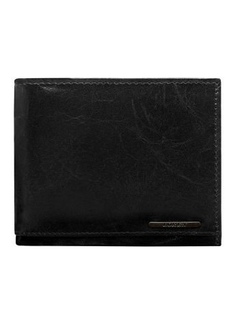 Czarny portfel dla mężczyzny bez zapięcia z system RFID