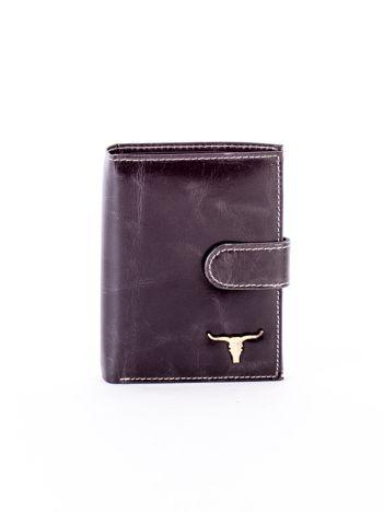 Czarny portfel dla mężczyzny z zapięciem na zatrzask