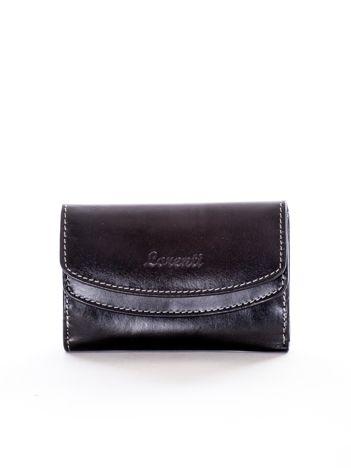 Czarny portfel skórzany damski