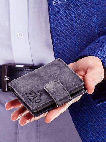 Czarny portfel skórzany dla mężczyzny