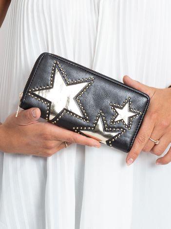 Czarny portfel z aplikacją