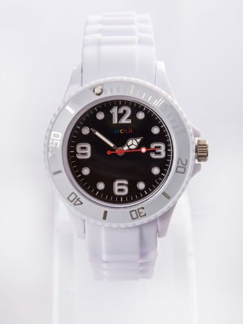 Czarny silikonowy zegarek damski