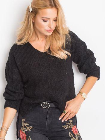 Czarny sweter Gift
