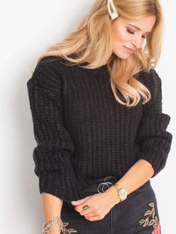 Czarny sweter Serende