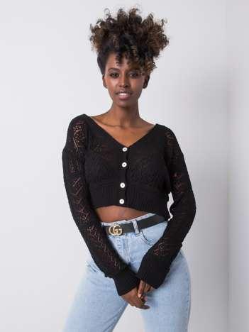 Czarny sweter na guziki Meera RUE PARIS