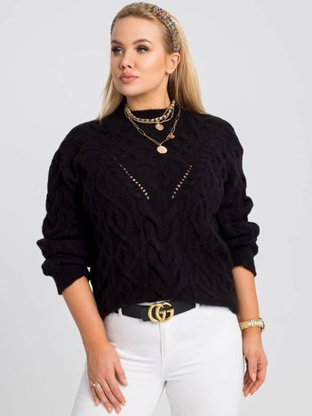 Czarny sweter plus size Maya