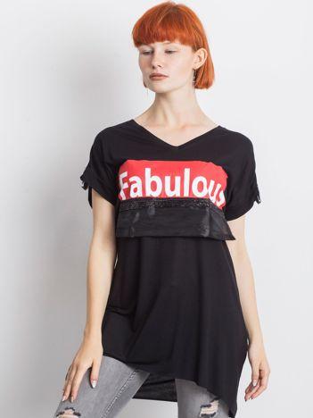 Czarny t-shirt Corrine