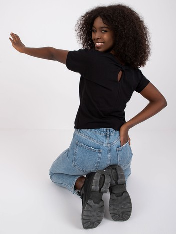 Czarny t-shirt Flow