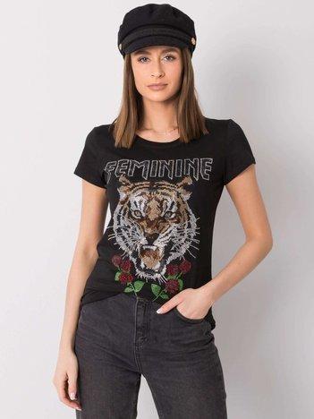 Czarny t-shirt Gemma