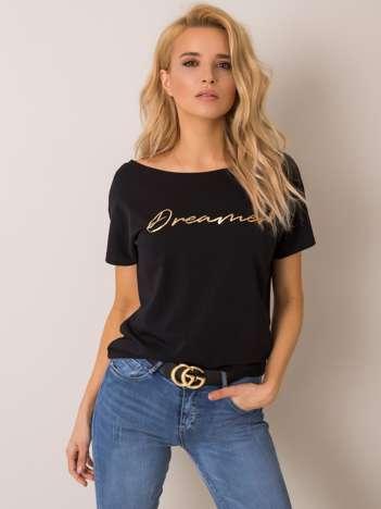 Czarny t-shirt Pauline RUE PARIS