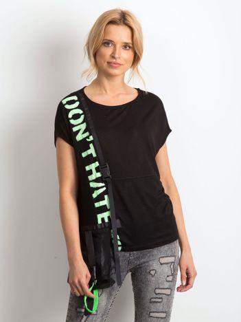 Czarny t-shirt Ribbed