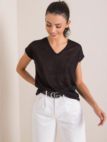 Czarny t-shirt Sienna RUE PARIS