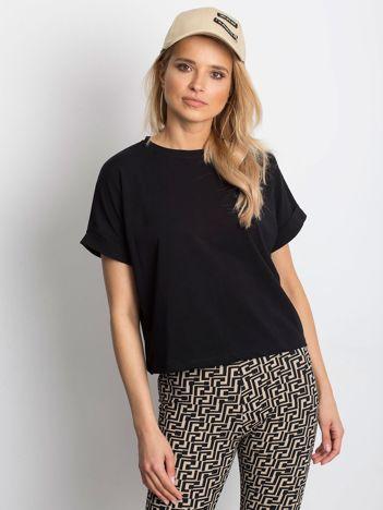 Czarny t-shirt Woodland
