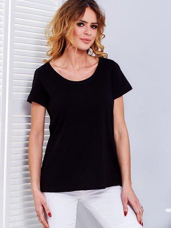 Czarny t-shirt damski basic