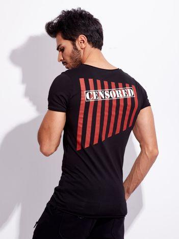 Czarny t-shirt dla mężczyzny z nadrukiem