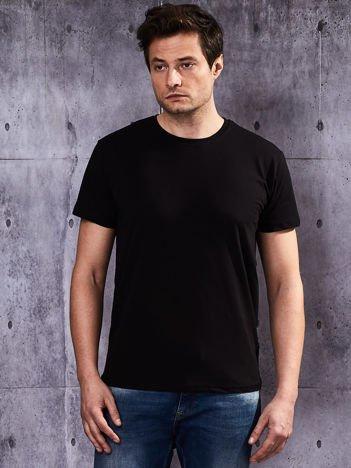 Czarny t-shirt męski basic