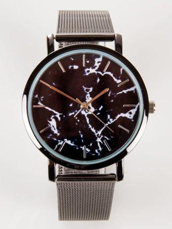 Czarny zegarek damski MARMUR z bransoletą typu MESH