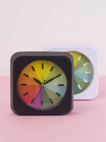 Czarny zegarek na biurko