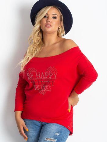 Czerwona bluza PLUS SIZE Association
