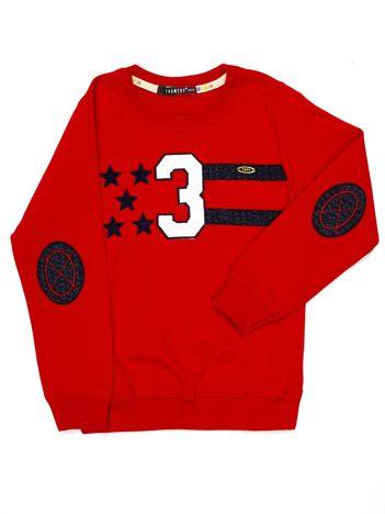 Czerwona bluza dziecięca z naszywkami