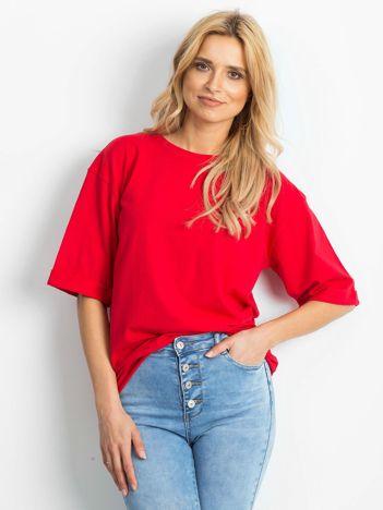 Czerwona bluzka Alongside