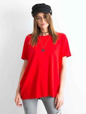 Czerwona bluzka Oversize