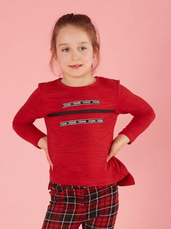 Czerwona bluzka dla dziewczynki z diamencikami