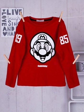 Czerwona bluzka dziecięca Super Mario Bros