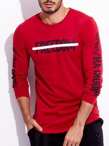 Czerwona bluzka męska z napisami