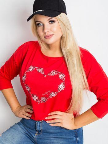 Czerwona bluzka plus size Feelings