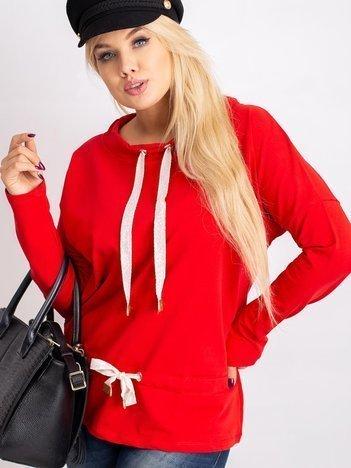Czerwona bluzka plus size Khloe