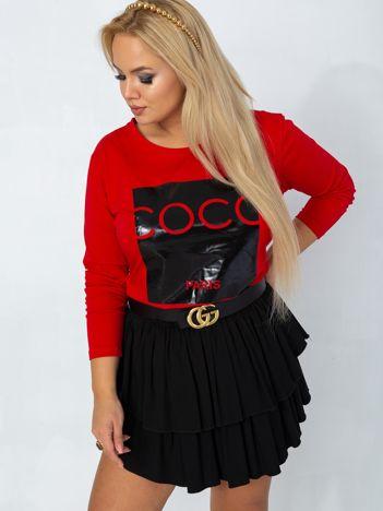 Czerwona bluzka plus size Sheer
