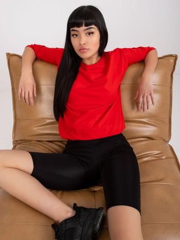 Czerwona bluzka z bawełny