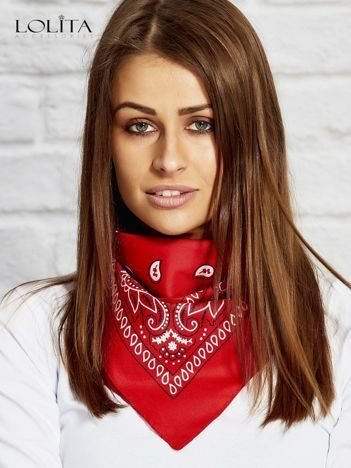Czerwona chusta bandanka
