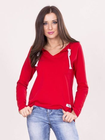 Czerwona damska bluzka