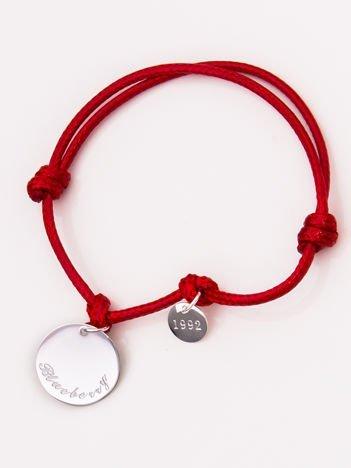 Czerwona damska bransoletka z najlepszej jakości STALI CHIRURGICZNEJ 316L