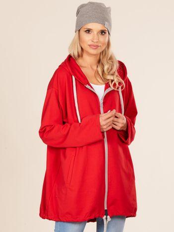Czerwona dresowa bluza oversize