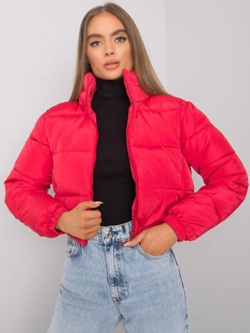 Czerwona krótka kurtka pikowana Iseline
