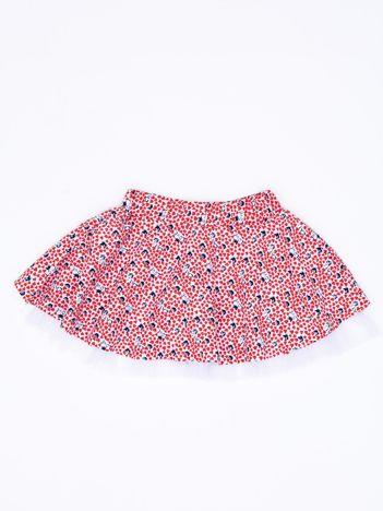 Czerwona rozkloszowana spódnica dla dziewczynki z nadrukiem