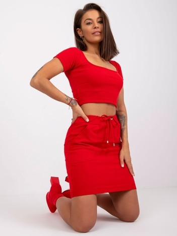 Czerwona spódnica Evie