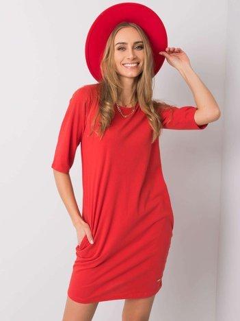 Czerwona sukienka Delphine NIE ZNASZ MNIE
