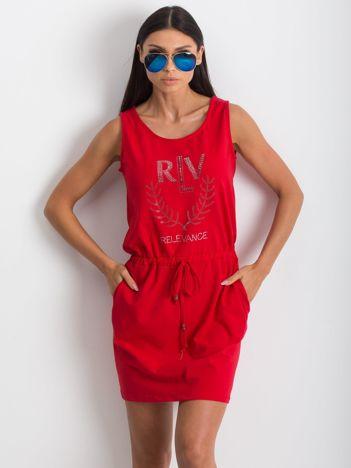 Czerwona sukienka Embellishment